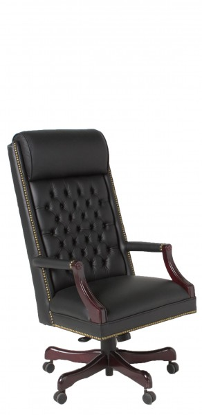 Black Leather Executive Hi-Back Swivel Chair CHR012505