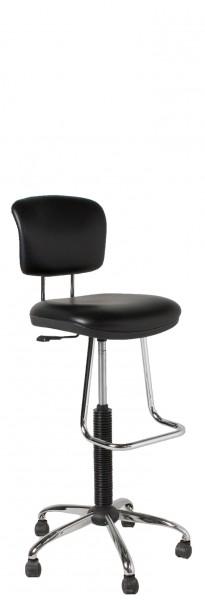 Black Vinyl Drafting Chair CHR012571