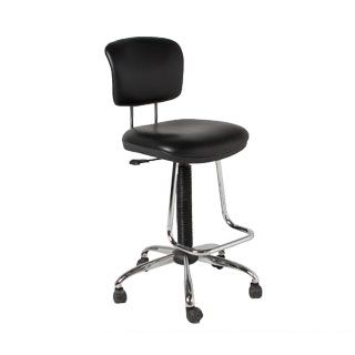 Black Vinyl Drafting Chair CHR012571