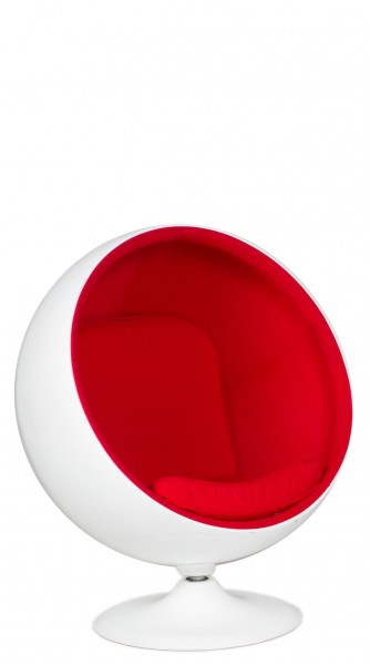 White Poly Shell Sphere Lounge Chair CHR012648