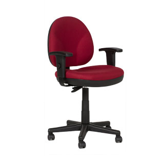 Burgundy Fabric Task Chair CHR012667