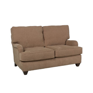 "58""w x 36""d Taupe Fabric Pillow Back Loveseat LVS011656"