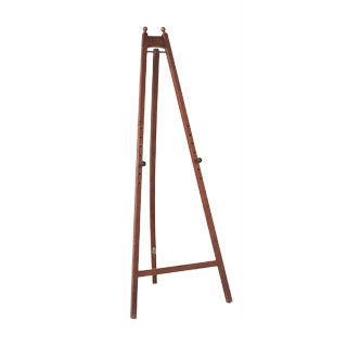 "63""h Walnut Painter's Easel MIS002082"
