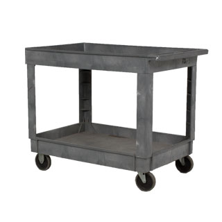 "40.25""w x 25.75""d Grey Plastic Utility Cart MIS003714"