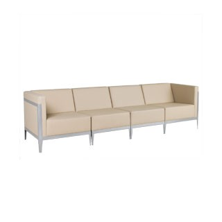 Beige Leather Sofa Modular SOF010199 + SOF010200 + SOF010201