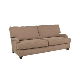 "81""w x 36""d Taupe Fabric Pillow Back Sofa SOF011655"
