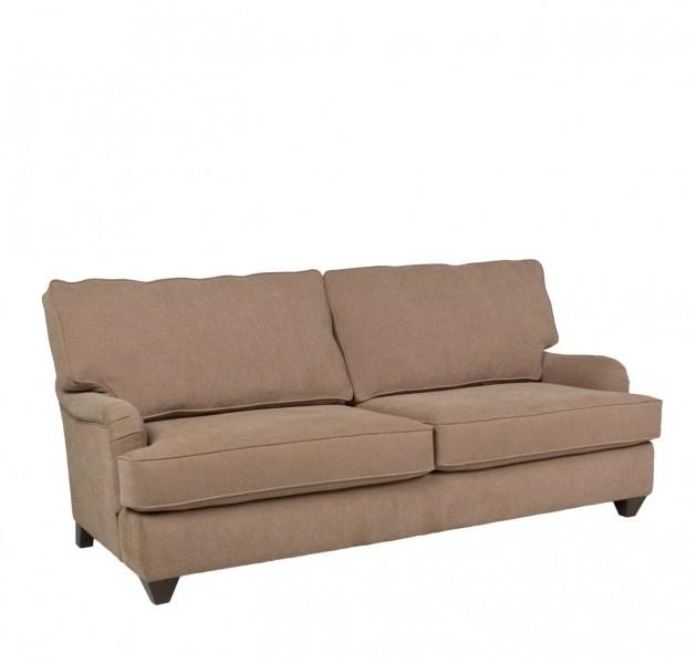 """81""""w x 36""""d Taupe Fabric Pillow Back Sofa SOF011655"""