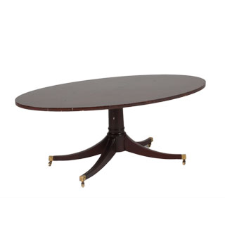 "48""w x 30""d Walnut Oval Coffee Table TBL000390"