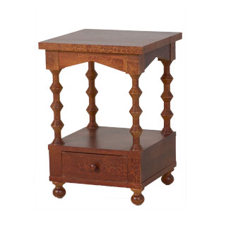 "16""w x 16""d Walnut Side Table TBL003292"