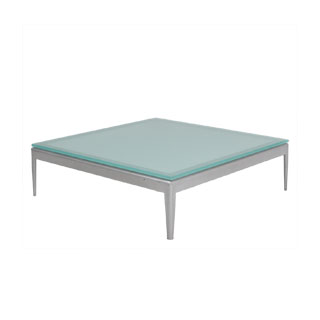 "30""w x 30""d Frosted Glass Coffee Table TBL010205"