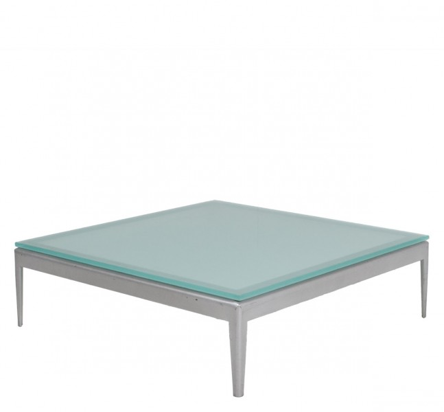 """30""""w x 30""""d Frosted Glass Coffee Table TBL010205"""