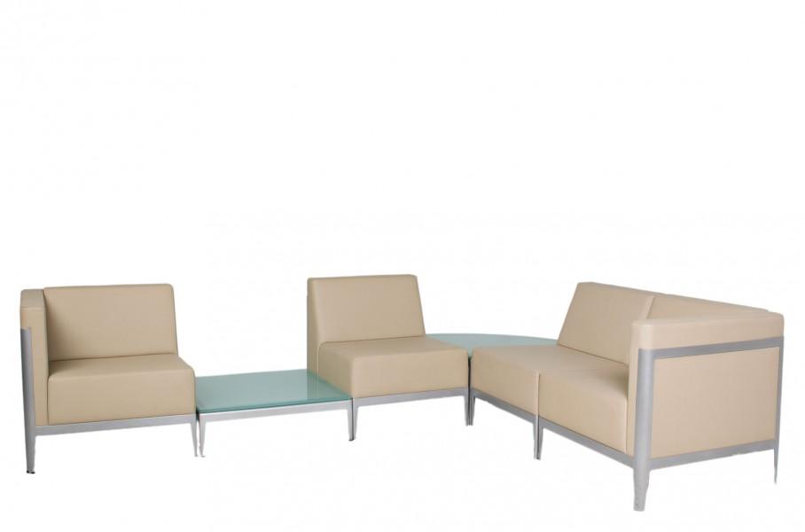 Beige Leather Sofa Modular SOF010199 + SOF010200 + SOF010201
