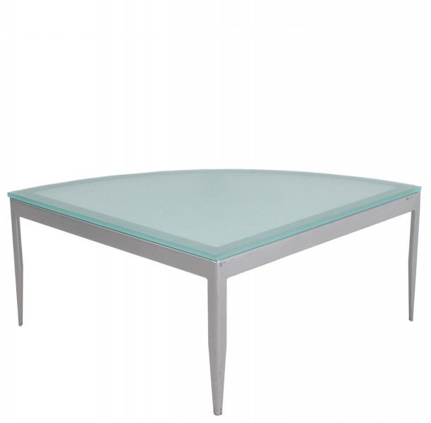"""30""""w x 30""""d Frosted Glass Coffee Table TBL011258"""