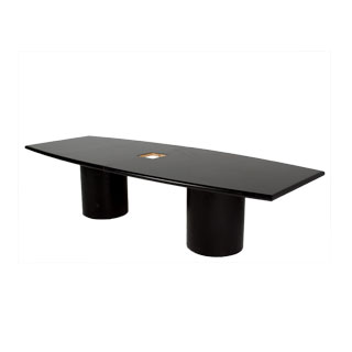 120''w x 48''d Black Laminate Conference Table TBL012563