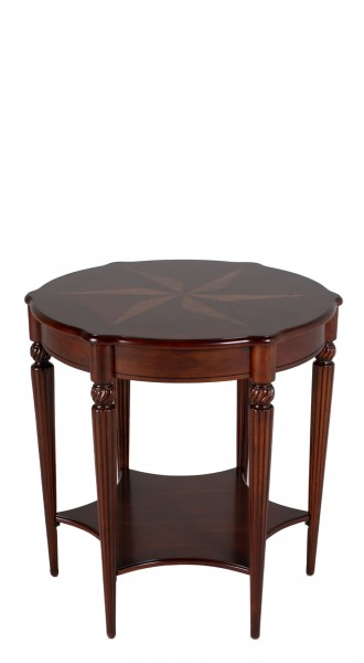 "28""dia Cherry Round Side Table TBL012832"