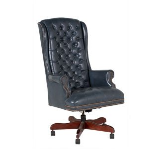 Blue Vinyl Executive Hi-Back Swivel Chair TRD005257