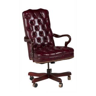 Oxblood Vinyl Executive Hi-Back Swivel Chair TRD008582
