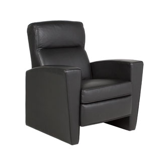 Black Leather Recliner CHR007960
