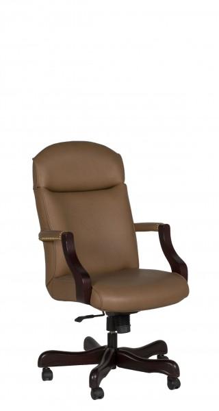 Beige Vinyl Executive High-Back Office Chair CHR010730