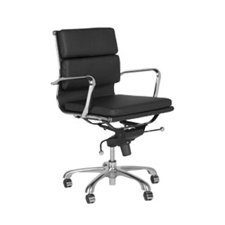 Black Vinyl Executive Mid-Back Office Chair CHR010822