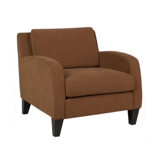Tan Fabric Upholstered Club Chair CHR011581