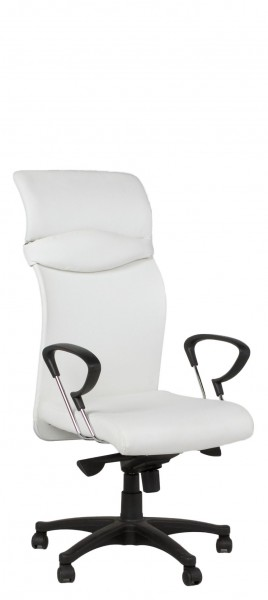 White Leather Executive Hi-Back Office Chair CHR011594