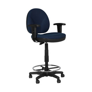 Blue Fabric Drafting Chair CHR011602