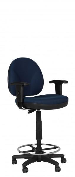 Blue Fabric Drafting Chair CHR011602