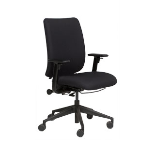 Black Fabric Executive Mid-Back Task Chair CHR011651