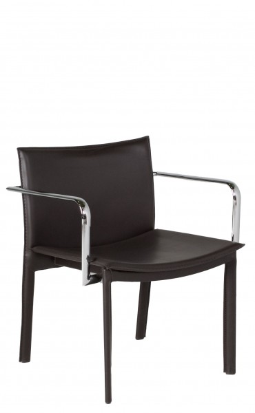 Dark Brown Leather Guest Chair CHR011675