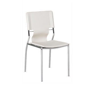 White Leather Sling Back Side Chair CHR011677