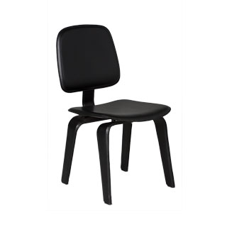 Black Leather Side Chair CHR011680