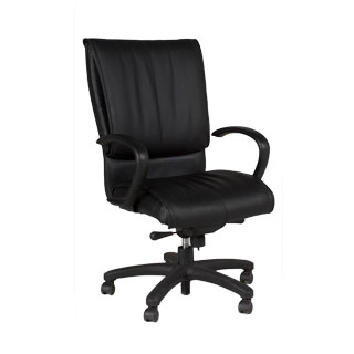 Black Leather Executive Hi-Back Chair CHR012026