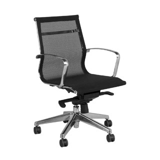 Black Mesh Mid-Back Office Chair CHR012143