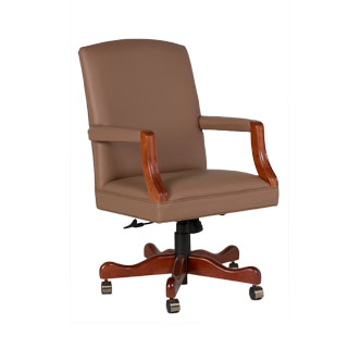 Tan Vinyl Mid-Back Office Chair CHR012492