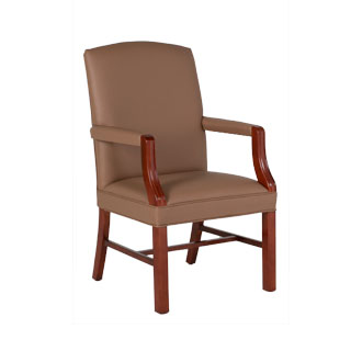 Tan Vinyl Guest Chair CHR012493