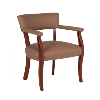Tan Vinyl Captain's Guest Chair CHR012494