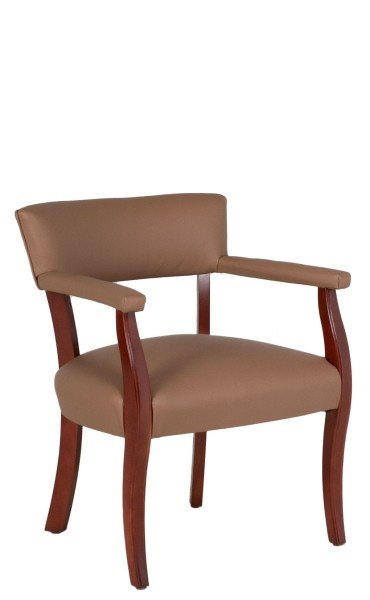 Tan Vinyl Captain's Guest Chair CHR012494