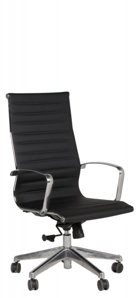 Black Leather Eames Executive Hi-Back Chair CHR012504