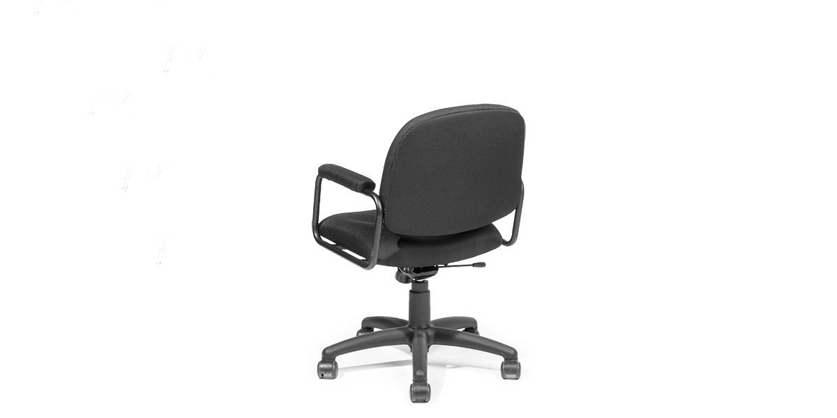 Black Fabric Mid-Back Office Swivel Chair CHR012591