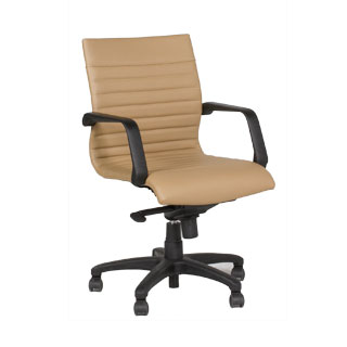 Tan Leather Mid-Back Office Chair CHR012681