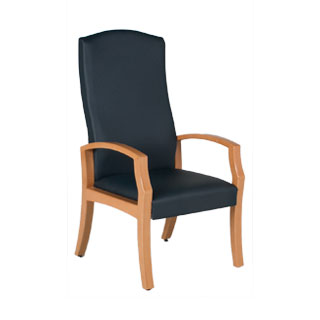 Blue Vinyl Hi-Back Patient Guest Chair CHR012684