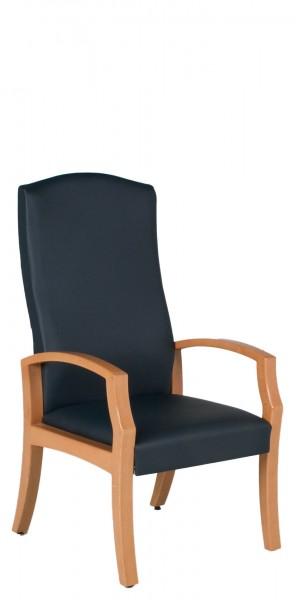 Blue Vinyl Hi-Back Patient Guest Chair CHR012684