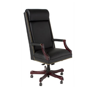 Black Leather Executive Hi-Back Chair CHR012506