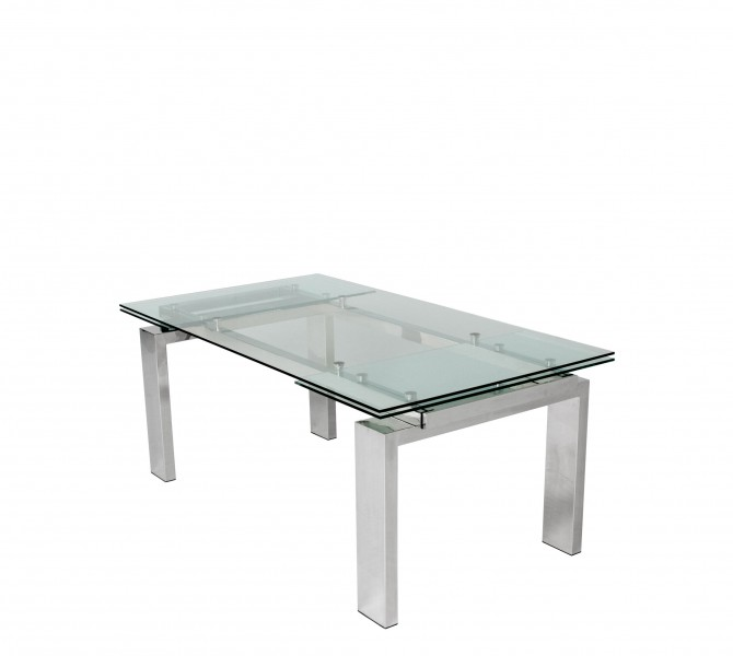 "72-106""w x 40''d Glass Extension Conference Table TBL012916"