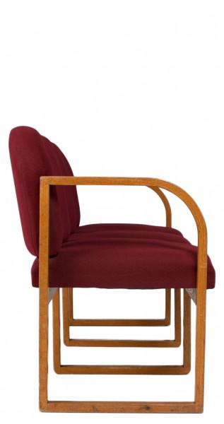 "66.25""w x 25""d Burgundy Fabric Tandem Seating BEN007077"