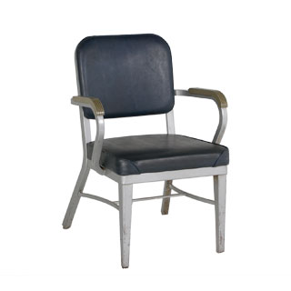 Black Vinyl Vintage Office Guest Chair CHR004156