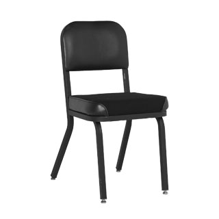 Black Fabric Vintage Schoolhouse Side Chair CHR006571