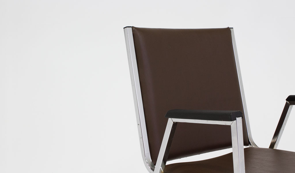 Brown Vinyl Stack Chair CHR006756