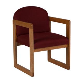 Burgundy Fabric Guest Chair CHR006845